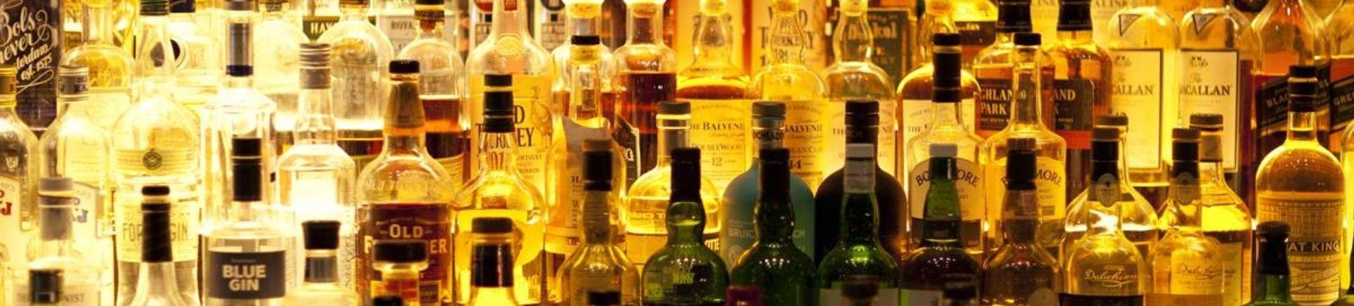Alcoholic bottles