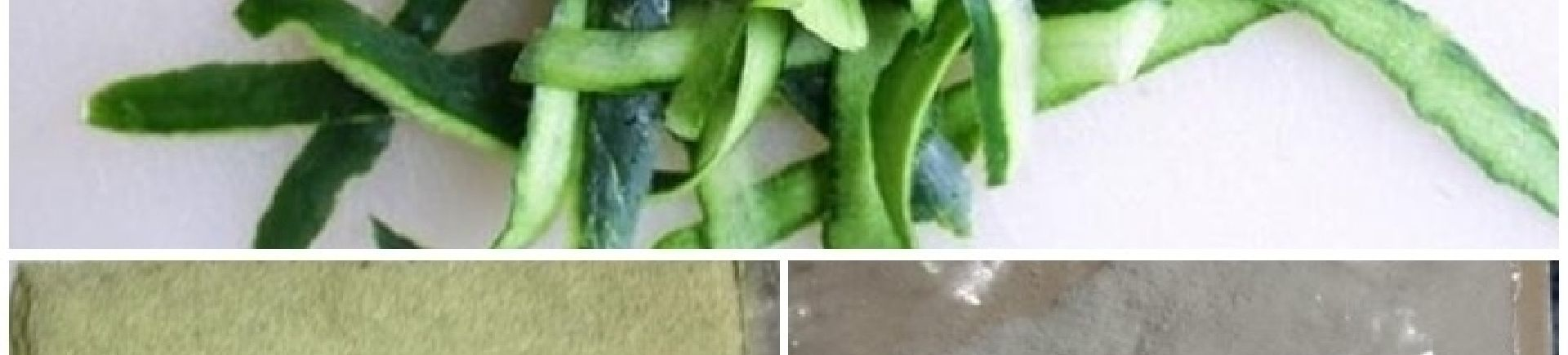 Cucumber peels