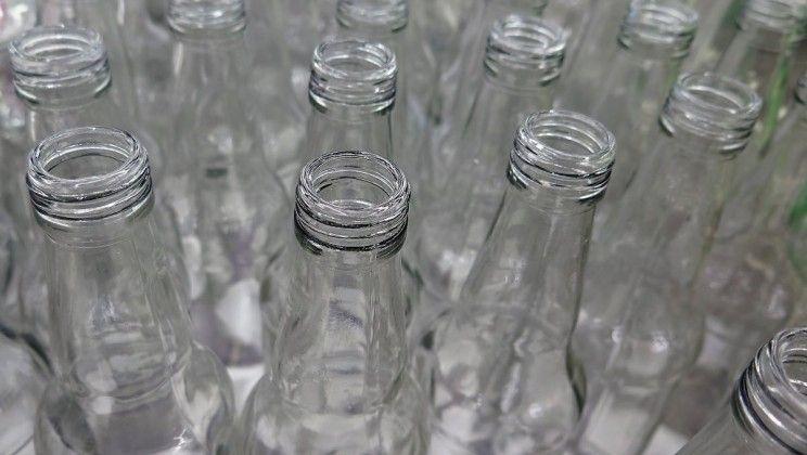 Glass soda bottles