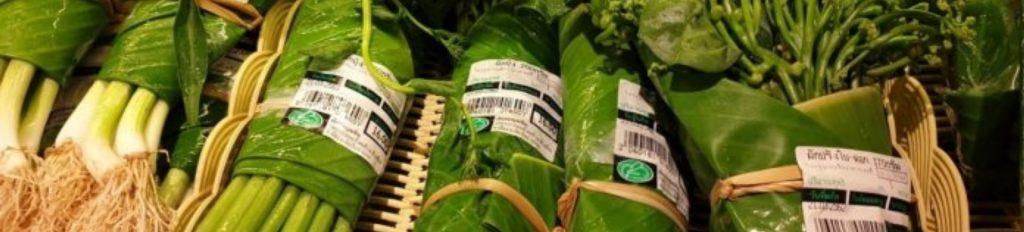banana leaves as packaging