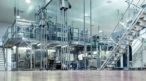 Optimised and efficient aseptic PET packaging line