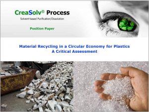 CreaSolv Process - Position Paper