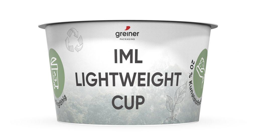 IML lightweight cup by Greiner Packaging