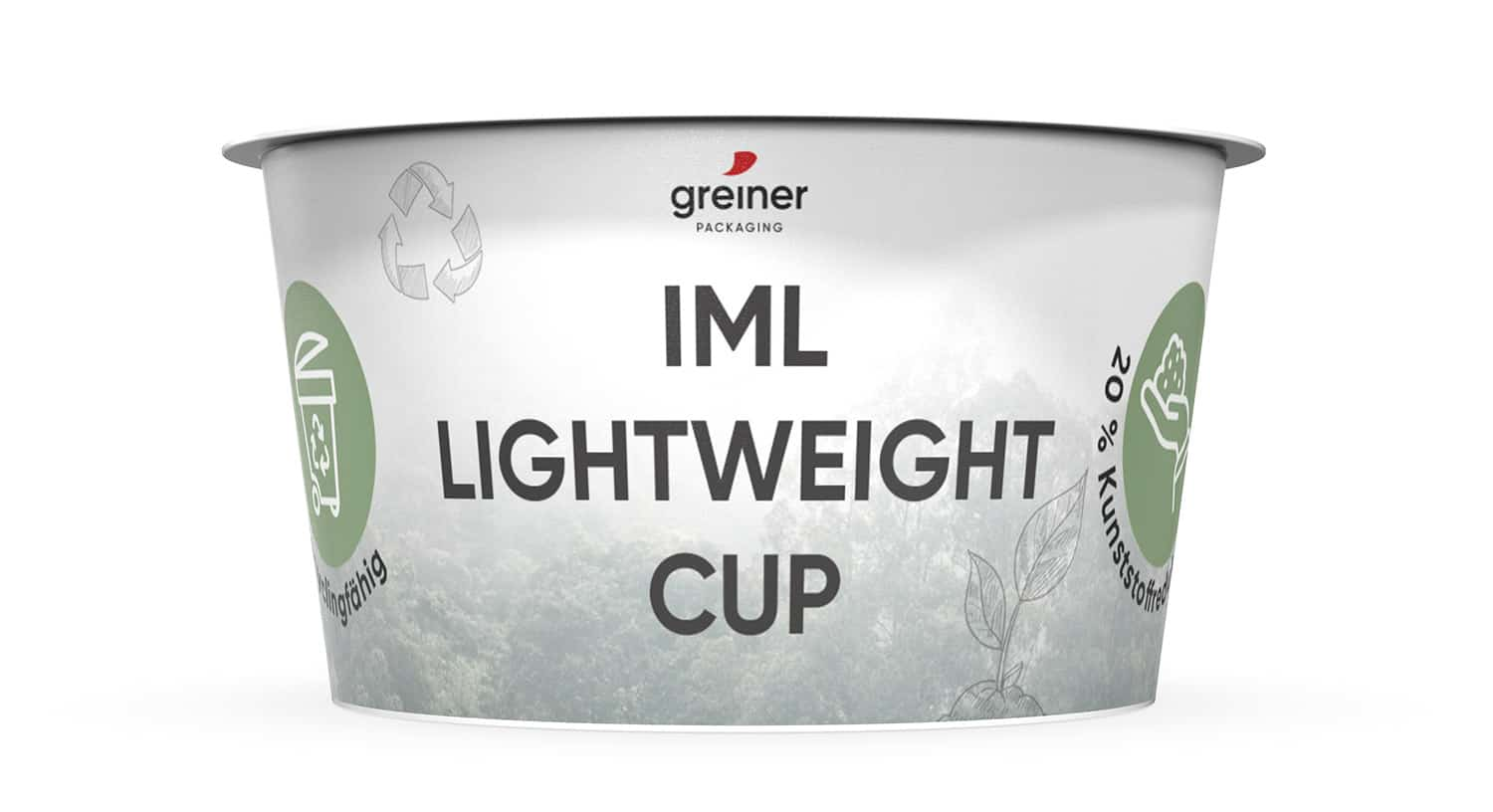 IML lightweight cup by Greiner Packaging