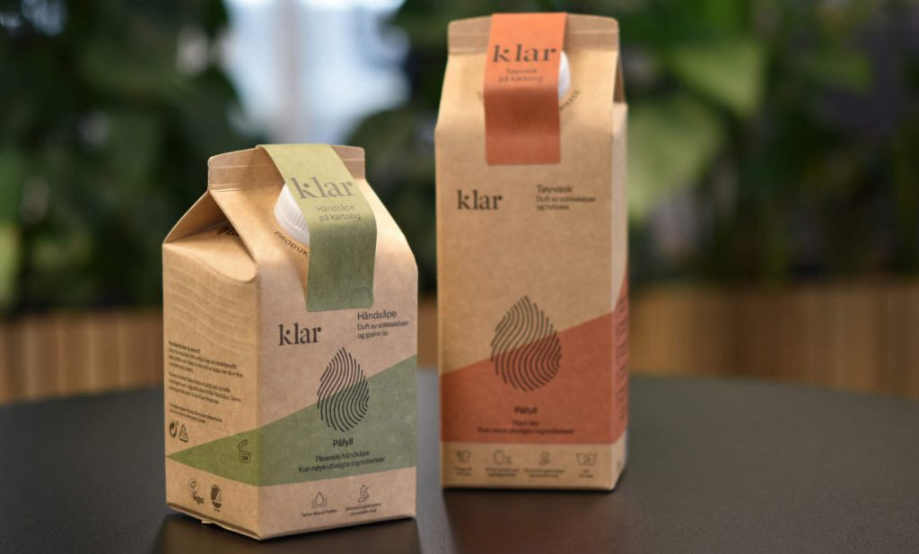 Orkla first to launch soap refills in cartons