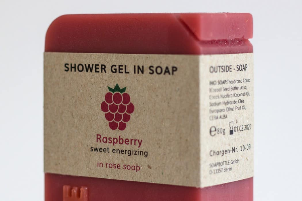 SOAPBOTTLE packaging raspberry fragrance