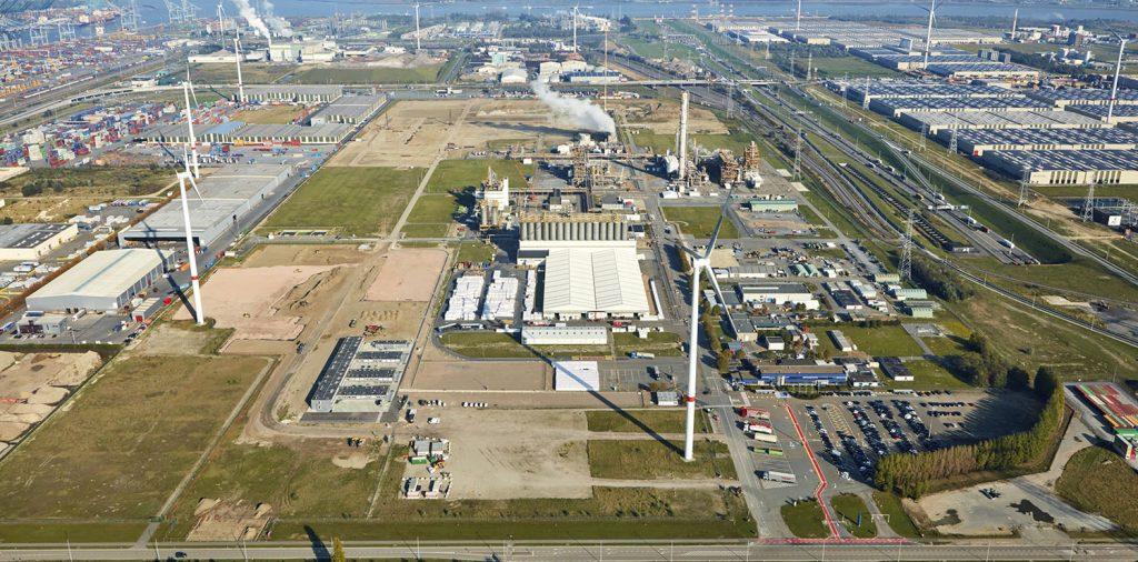 Aerial view of the Borealis location In Kallo Belgium