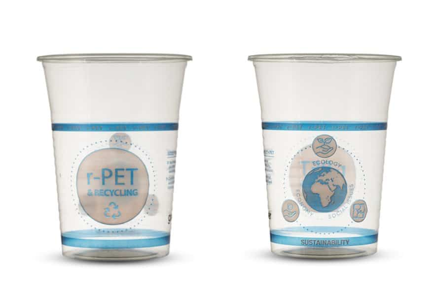 Sustainable r-PET Beer cups