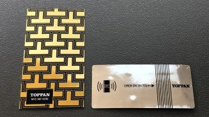 Toppan's new NFC labels with high-quality metallic design are ideal for luxury brand goods.