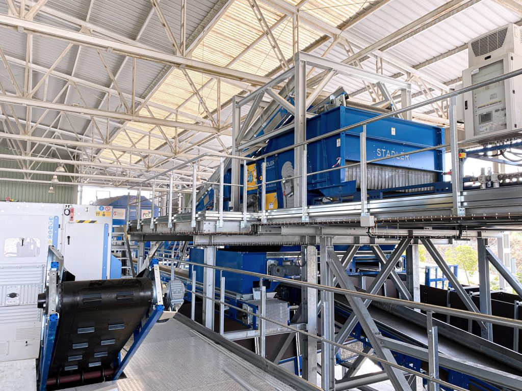 Stadler designs and builds the integrated sorting line for the life4film project at the granada plant operated by fcc medio ambiente